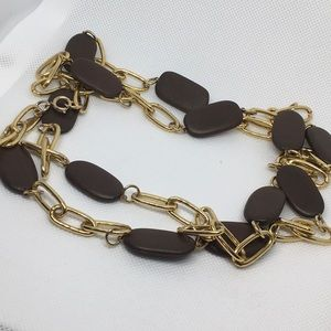 Jewelry - Vintage Jewelry, Long brown stone Necklace